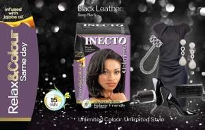 Inecto Black leather hair colour