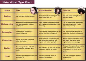 Ethnic Hair Care Chart
