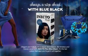 Blue black inecto plus hair colour